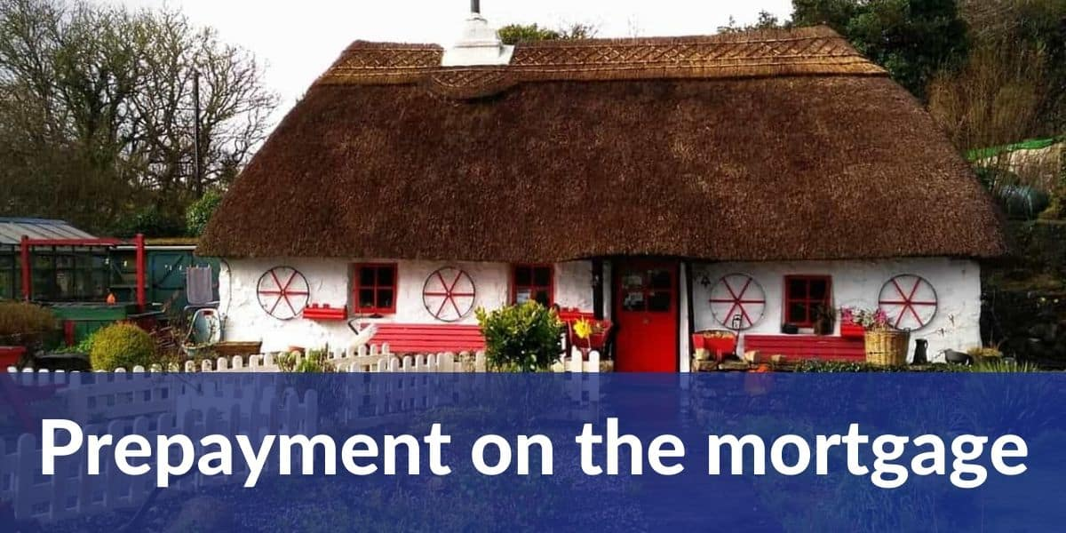 Prepayment on the mortgage