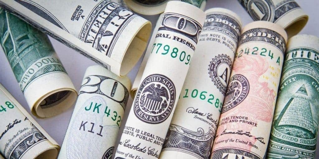 image with money before passive income